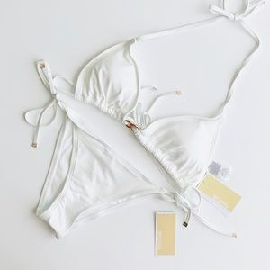 Michael Kors Cruise 2019 White Bikini Set - MEDIUM